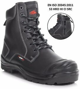 Combat Duty C Boot Perf Black Cap S3 heavy w pb15cz Zip Src Ddr Safety Sole 7wq7IxpUY