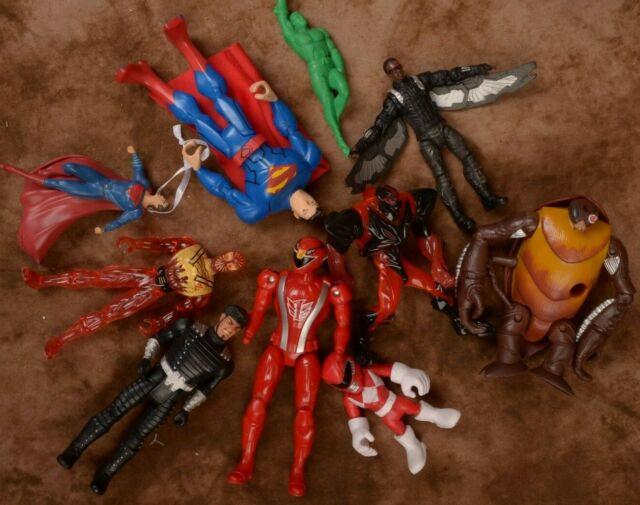 Mixed Action Figure Lot For Play Aquaman Superman Hawk Bug