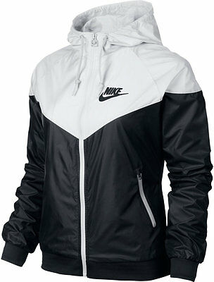 Nike WindRunner Women's Jacket Windbreaker Hoodie Black White 545909-011