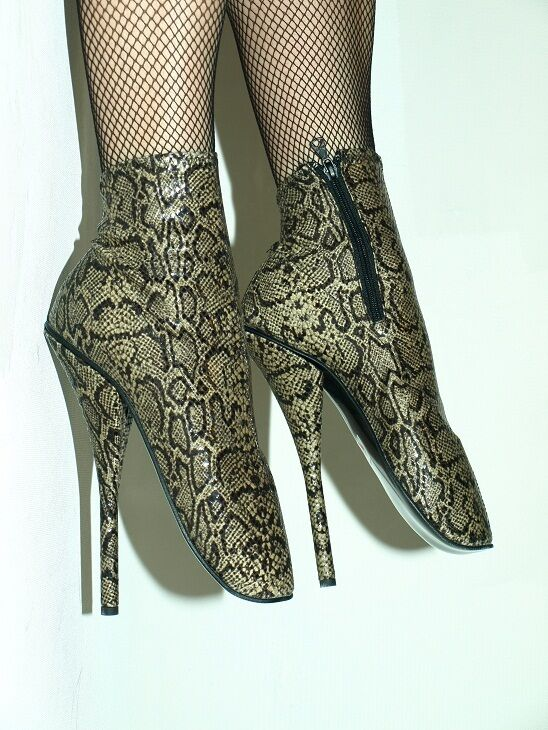 IMITATION LEATHER PYTHON 8,2' BALLET PUMPS SIZE 10-16 HEELS 21CM 8,2' PYTHON - POLAND 742a41