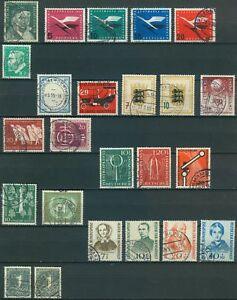 Bund-Jahrgang-1955-Auswahl-aus-Michel-Nr-204-226-o-gestempelt