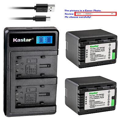 HC-V500M USB Dual Battery Charger for Panasonic HC-V500 HC-V500K HC-V500MK Full HD Camcorder