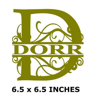 Letter D Name Monogram Vinyl Decal Sticker For 8 Glass Block Diy Crafts Custom Ebay