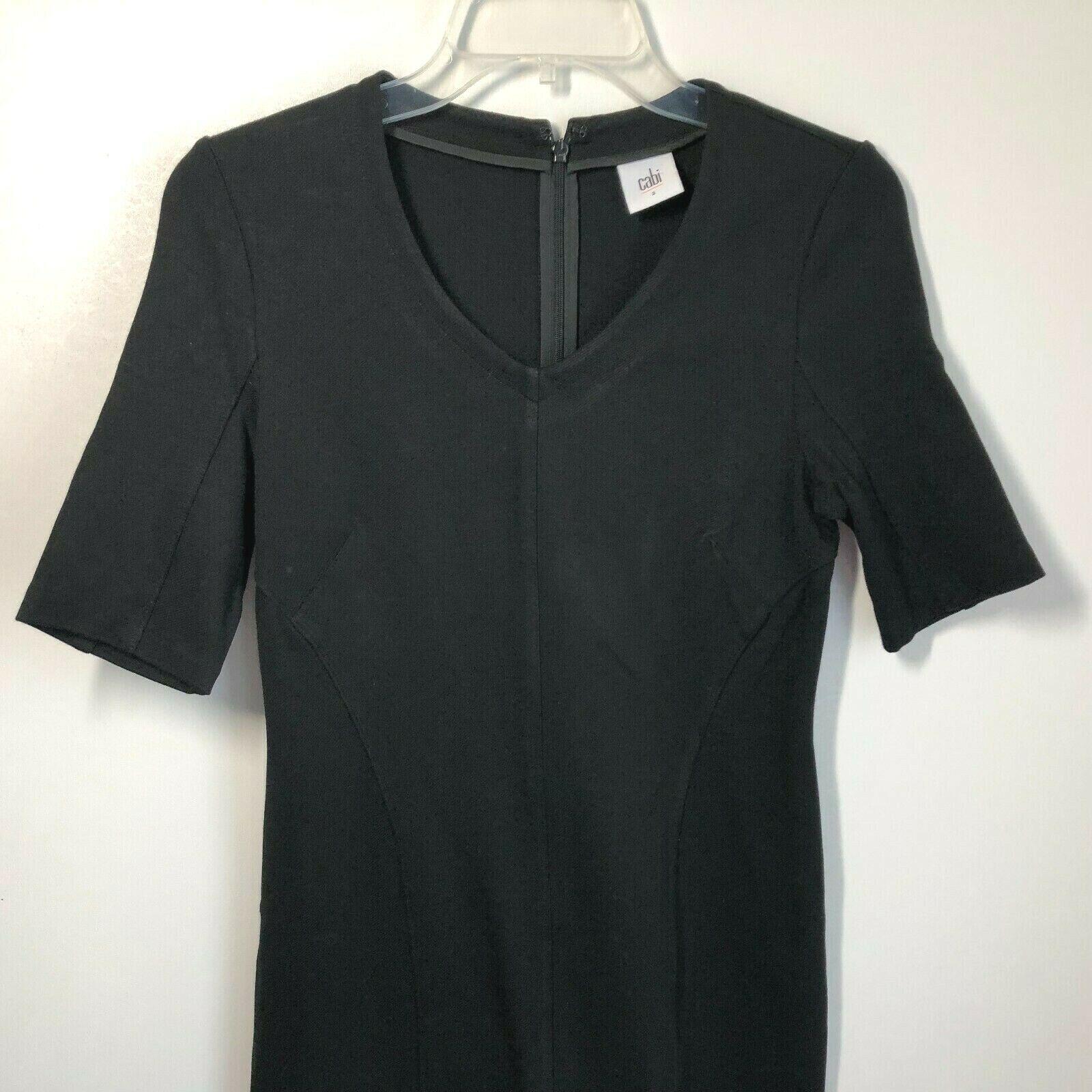 Cabi Size 2 Claire Dress Black Ponte Knit Short S… - image 4