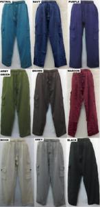 Mens-Pants-cotton-hippy-Boho-Comfy-Unisex-Summer-weight-hippie-XL-2XL