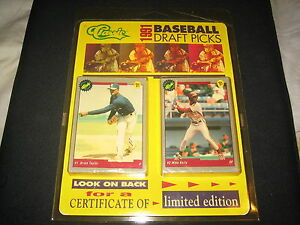 1991 classic draft picks baseball mlb limited edition complete set.