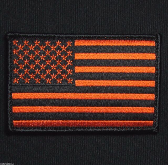 United States USA Flag Patch W// VELCRO® Brand Fastener Tactical Gray /& Black