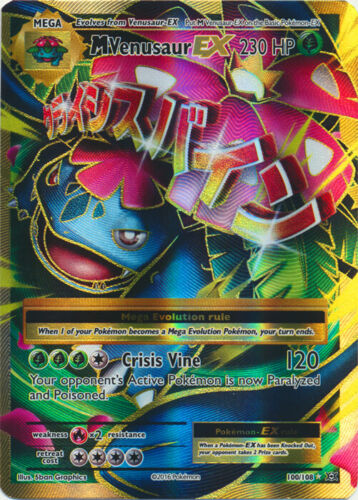 1x Mega-Venusaur-EX Evoluti Full Art Ultra Rare NM-Mint Pokemon XY 100//108