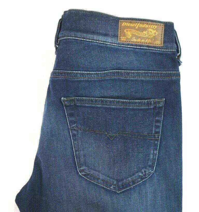 NWT DIESEL Women's Dark Wash 0834T Louvboot Low Waist Slim Bootcut Jeans 28 x 32