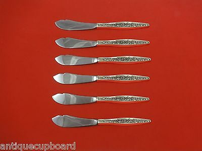 Custom Sufficient Supply Renaissance Scroll By Reed & Barton Sterling Silver Trout Knife Set 6pc Antiques Furniture