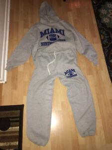 Russell-Athletic-Miami-Bulls-Northwestern-sweatsuit-size-XXL-top-XL-pants