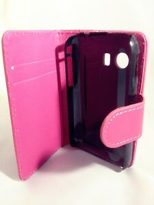 PINK-WALLET-Leather-Case-Card-Slots-Phone-Cover-Samsung-Galaxy-Young-GT-S5360
