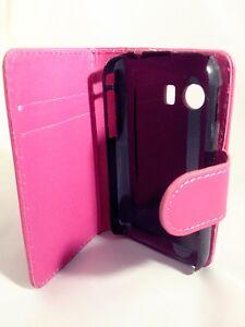 Rose-portefeuille-etui-en-cuir-emplacements-de-carte-housse-de-telephone-Samsung-Galaxy-Young-GT