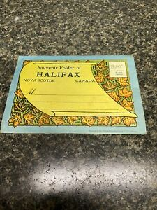 Vintage-Souvenir-Postcard-Folder-Halifax-Nova-Scotia-Canada-Unused