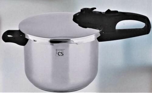 CS Schnellkochtopf 6 Liter 2 Dampfdruckstufen Edelstahl 18/10 Induktion neu ovp