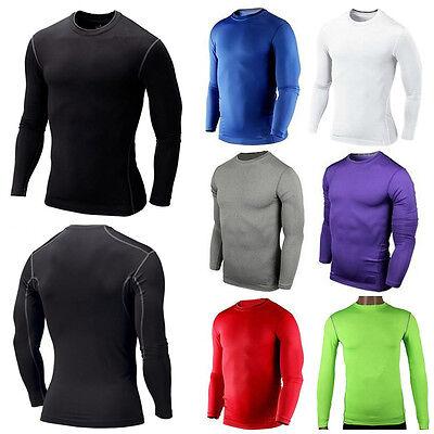 Mens Compression Shirt Armour Base Layer Tight Top Thermal Long Pants Leggings