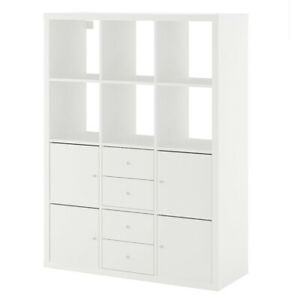 IKEA KALLAX Shelving unit with 6 inserts - New , Sealed - EXPRESS POST