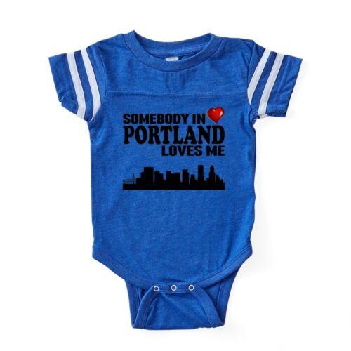 330563781 CafePress Somebody In Portland Loves Me Baby Football Bodysuit