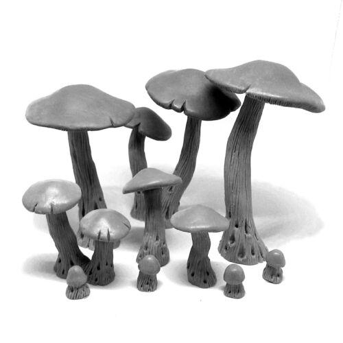 Grabblecast GC_0024 Giant Mushrooms Complete Set Wargames Terrain Frostgrave DnD