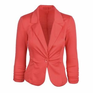 f3e6c1435bde8 Womens Peplum Frill Fitted Jackets Ladies Long Sleeve Flared Slim Fit Blazer