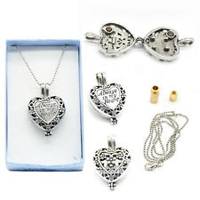 Stainless Heart Locket Cremation Jewelry Keepsake Memorial Urn Necklace Pendant