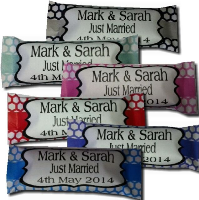 Personalised Sweets x 30 Wedding,Engagement, Anniversary Party Favour ANY COLOUR