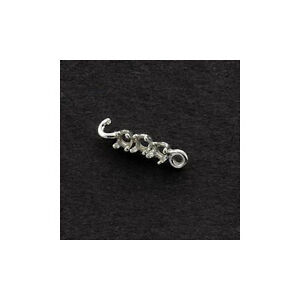 (1/2) (3) Stone 2.5mm Round Solid Sterling Silver Earring Extenders