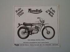 advertising Pubblicità 1971 MOTO MONDIAL 125 CROSS RADIAL MK2 MK 2
