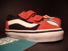 Baby 2012 Vans OLD SKOOL V 5 TD STRAPS RED WHITE BLACK VN-0D3Y5SK NEW 5.5C 5.5