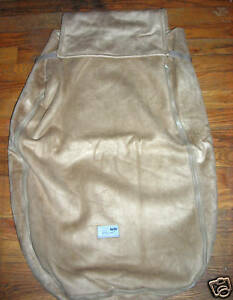 Company Store Car Seat Cover Cozy Sherpa Stroller Brown