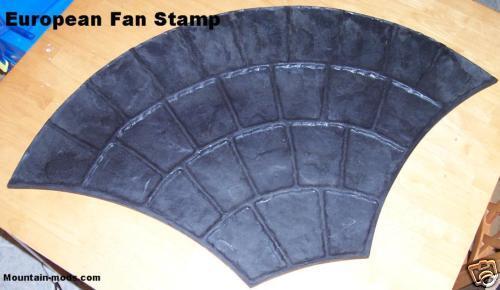 1 European Fan Decorative Concrete Cement texture Stamp Mat form Floppy stamping