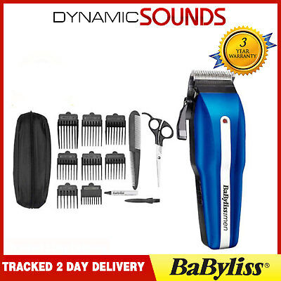 Babyliss 7498CU Men Pro Powerlight Mains/Cordless Hair Clipper Trimmer Kit Set