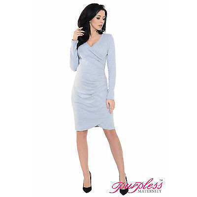 Purpless Maternity, New Contemporary Side Pleated Pregnancy Maternity Dress 6232