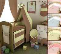 2 Bis 20tlg. Babybettwäsche Set Bettset Bettwäsche Nestchen Himmel Schlafsack