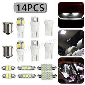 14X-LED-Soffitte-Innenraumbeleuchtung-Auto-Standlicht-Kennzeichenbeleuchtung