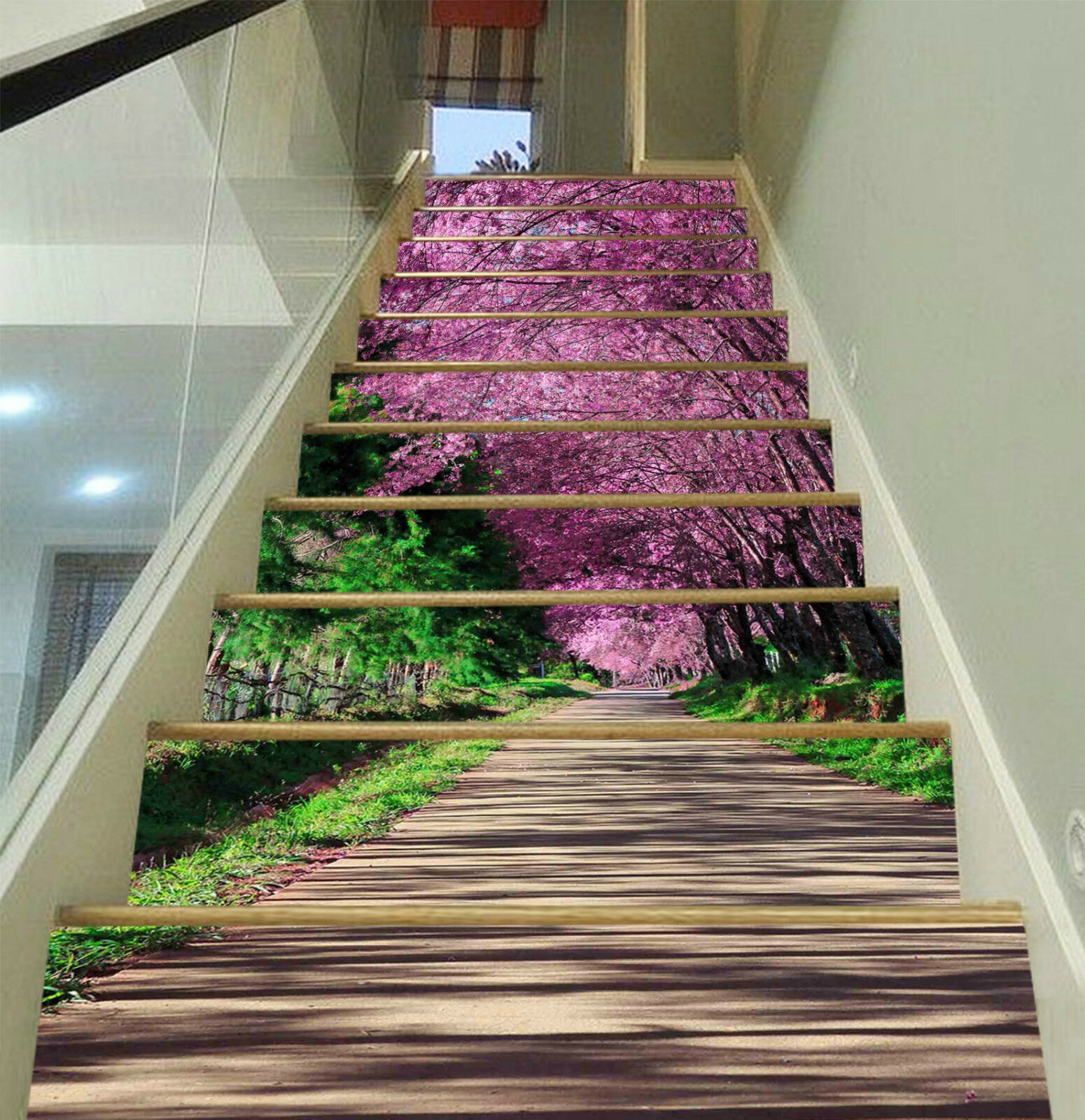 3D Kirsche Spur 327 Stair Risers Dekoration Fototapete Vinyl Aufkleber Tapete DE