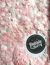 5000 Confetti HEART Light pink and white Wedding /party biodegradable