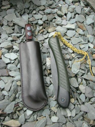 Fait à la main en cuir Bahco lapone Bushcraft articulé Scie gaine