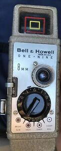 Bell-amp-Howell-One-Nine-8mm-Film-Movie-Camera-Super-Comat-Lens