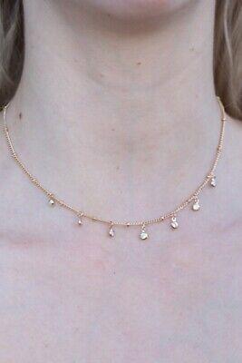 brandy melville silver stars choker fashion necklace NWT
