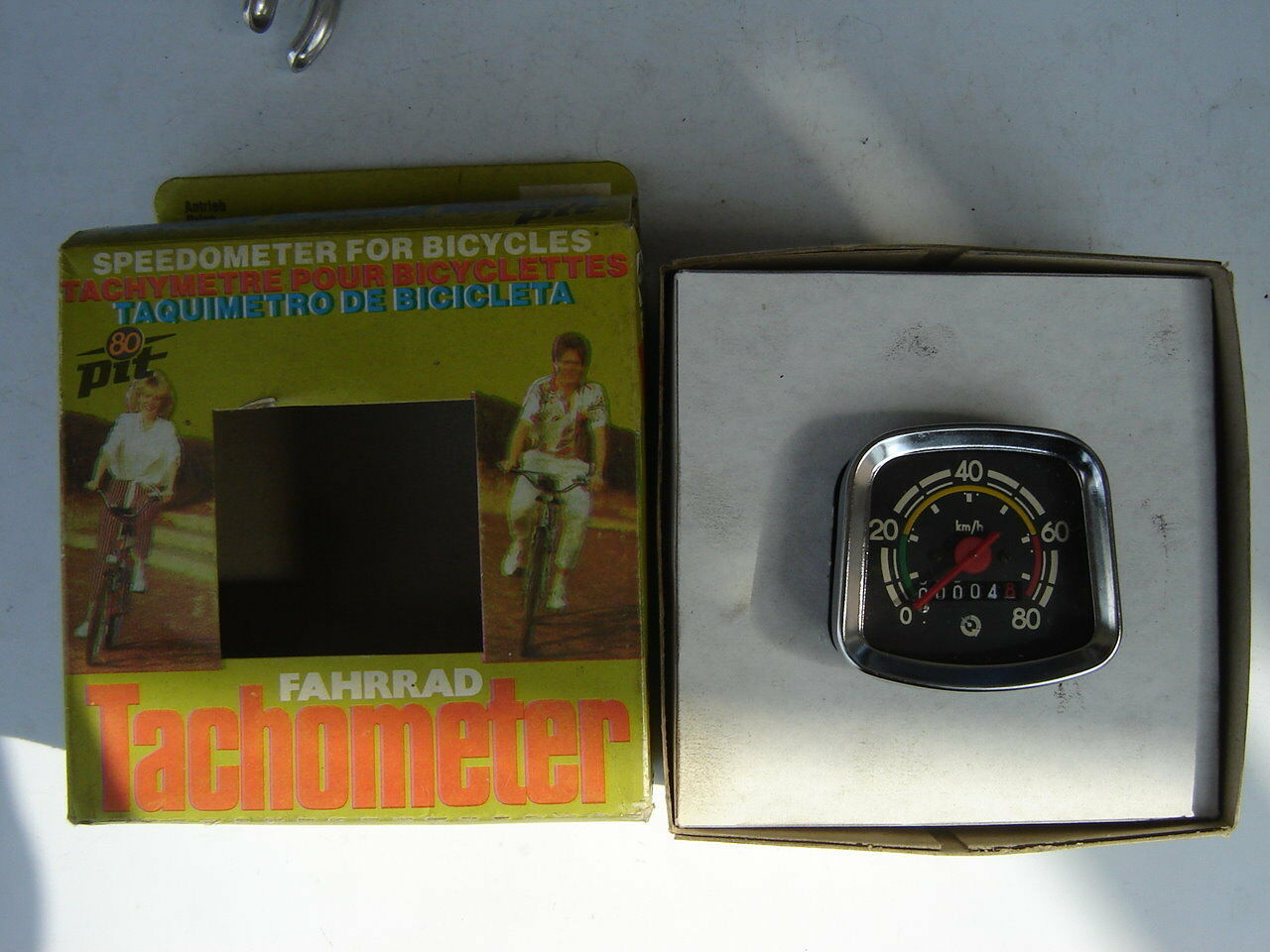 PIT VINTAGE SPEEDOMETER FOR BICYCLES - NOS - NIB