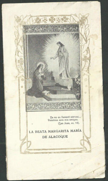 De Voluntad Fuerte Estampa Antigua Santa Maria De Alcoque Andachtsbild Santino Holy Card Santini Estilismo Actualizado