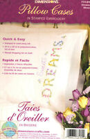 Embroidery Kit Dimensions Set Of 2 Sweet Dreams Floral Pillowcases 73189