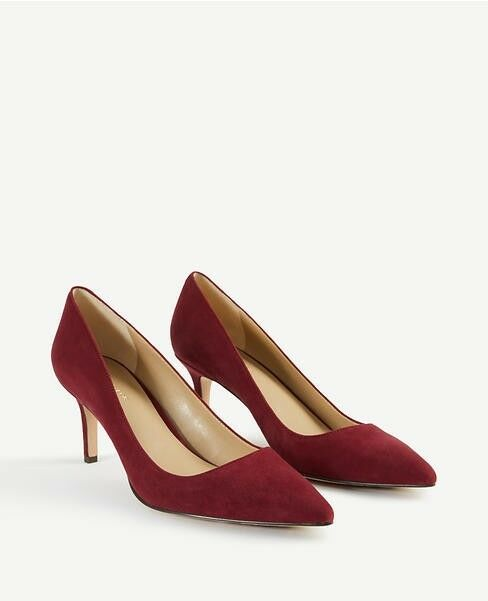 New with Box Ann Taylor Eryn2 Suede Pump Pump Pump in Vino Größe 5.5 4fa92b