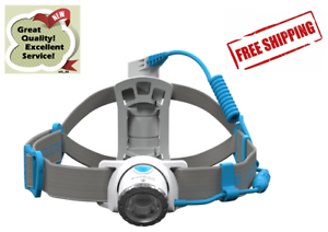 LED LENSER NEO10R Rechargeable Headlamp Head Torch Blue NEW 7 Year Guarantee