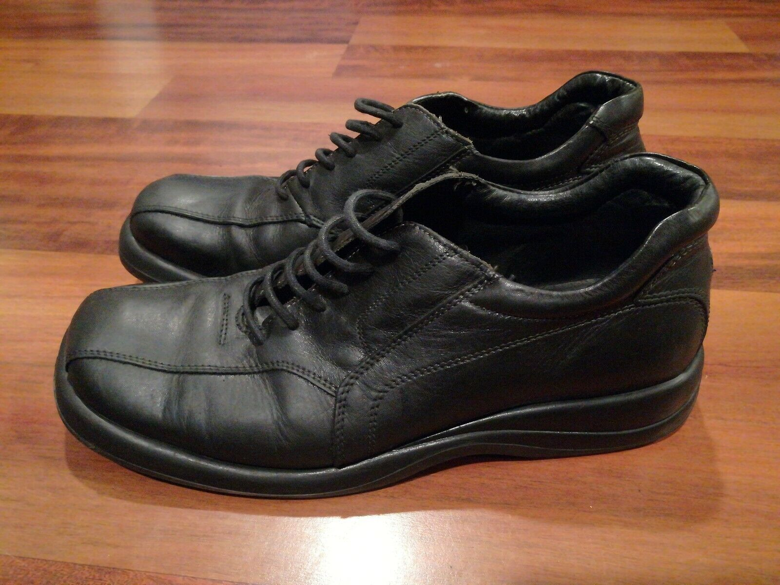 Kenneth Cole Reaction Mens Oxford Dress Shoes Square Toe Black Sz 11 Made Italy
