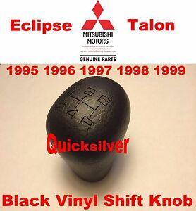 95 99 Mitsubishi Eclipse Talon 420a OEM Black Vinyl SHIFT KNOB 4g63 New