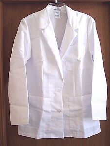 Details about WOMEN'S LAB COAT/PHARMACY SMOCK - LONG-SLEEVE - MEDLINE  (SIZES 8 & 12) - NEW