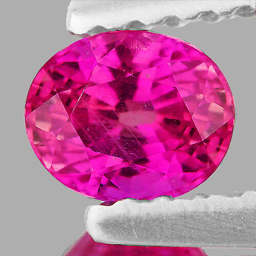 5X4mm OVAL 0.60CT SPARKLING HOT RED PINK SAPPHIRE NATURAL LOOSE GEMSTONE [VVS]