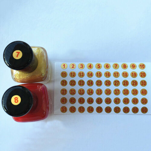 6mm Round Number Stickers Marks Gold Self-adhesive Paper Labels Waterproof Craft